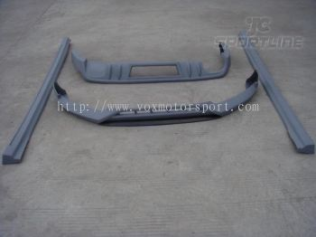 audi A4 B8 bodykit rieger bumper lip on