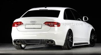 audi A4 B8 bodykit rieger bumper rear lip on diffuser