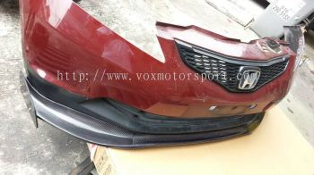 2008 2009 2010 2011 2012 2013 Honda fit jazz ge6 front bumper lip js racing style for ge add on upgrade performance look real carbon fiber frp material new set