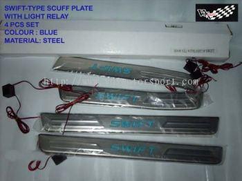 suzuki swift cuff plate led light