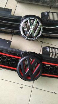 volkswagen golf gti mk6 logo matt black new