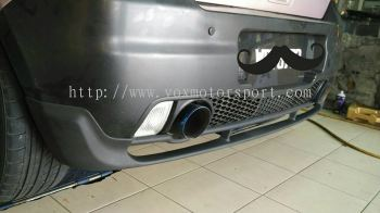 2005 2006 2007 2008 2009 suzuki swift sport zc31s monster style rear lip for swift sport bumper add on upgrade monster style performance look frp material new set