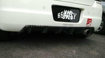 suzuki swift bodykit scrit bumper rear lip on