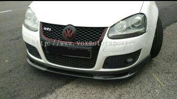 volkswagen golf mk5 gti bumper front lip diffuser abt style mk5 gti add on upgrade performance look real carbon fiber material new set