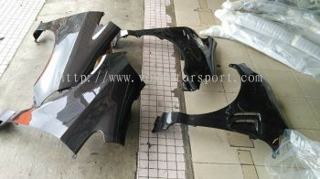 2003 2004 2005 2006 2007 honda jazz fit gd js racing front fender guard for fit jazz replace upgrade performance look real carbon fiber material new set