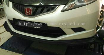 2008 2009 2010 2011 honda fit jazz ge front lip spoon style for ge rs add on upgrade performance spoon look frp material new set