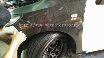 honda jazz 2015 carbon side fender