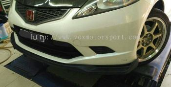 2008 2009 2010 2011 honda jazz fit ge front lip spoon rs style for ge rs add on upgrade performance spoon look frp material new set