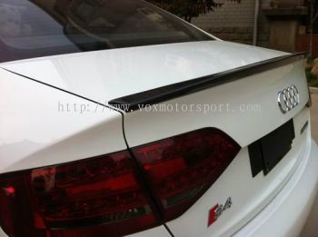 AUDI A4 B8  BOOT LIP SPOILER CARBON R-STYLE