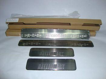 mitsubishi lancer ex  ralliart scuff plate stainlees steel