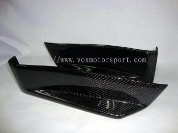 mitsubishi lancer ex carbon rear side diffuser evo x rear bumper