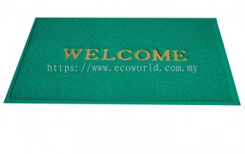 2'x3' Standard Coil Mat With Welcome-Green
