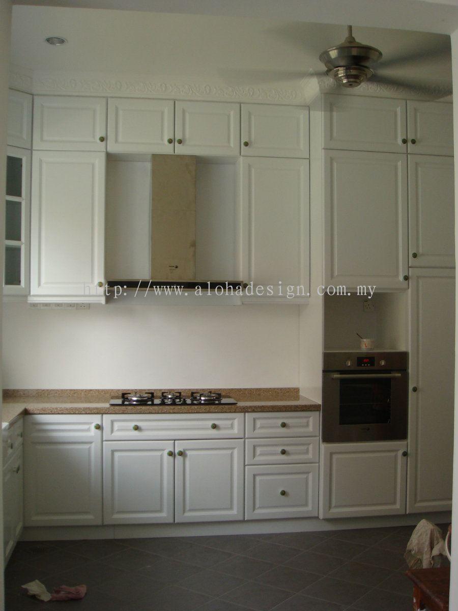 Selangor Kitchen Cabinet Design Solid Nyatoh Kitchen