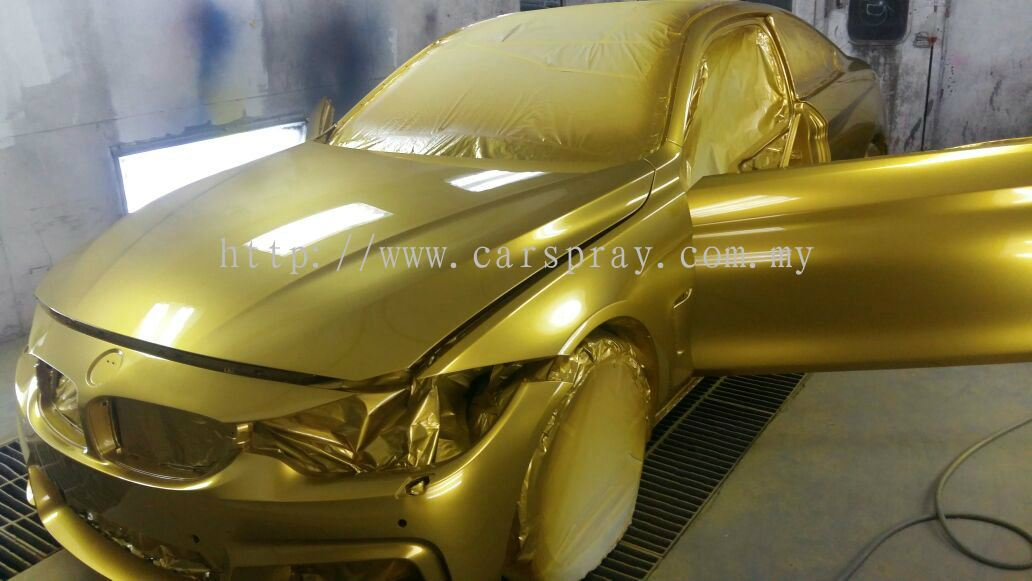 selangor bmw car spray gold colour bmw car spray paint