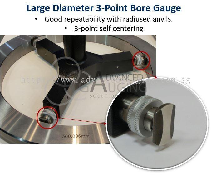 Advanced Gauging Solutions Pte Ltd : XT500 Large Diameter 3-Point Bore Gauge
