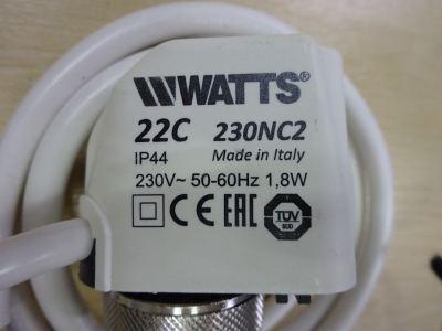 WATTS 3/4 LFN45BM1-DU ELECTROTHERMIC ACTUATOR (1,8W 230V/50~60HZ) IP44 (PCN 22C230NC2) (ITALY)