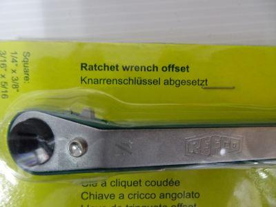 "REFCO RFA-127-OFFSET 4506201 RATCHET WRENCH OFFSET (1/4"" x 3/8"" & 3/16"" x 5/16"")"