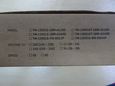 """TOYO COOLING FAN TM-120S1S-18W-A240D 4"""" 220/240V VIDEO FAN"""