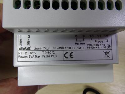 DIXELL XT160D-5C0TU 4-STAGE DIGITAL THERMOSTAT C/W BUZZER (230V) C/W NG6P-1.5M NTC PROBE
