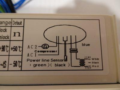 LINDEN LCF402-30-LC DIGITAL THERMOMETER C/W 1 NTC PROBE & STEP DOWN TRANSFORMER (110V/220V AC/50~60H
