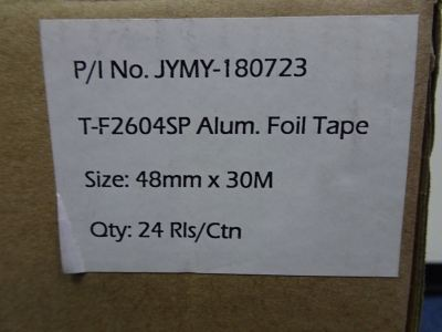 "ALUMINIUM FOIL TAPE 2"" T-F2604SP (48MM X 33YDS [30M]) (24 ROLLS/BOX)"