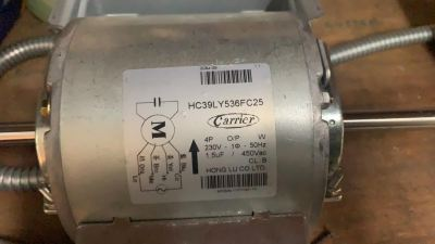 CARRIER HC39LY536FC25 FAN MOTOR C/W CAPACITOR (1.5UF) (230V/1PH/50HZ)