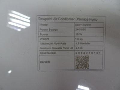 DEWPOINT INTELLIGENCE DDP1030CE (MAX. H=2.5M) DRAINAGE PUMP C/W 5M HOSE