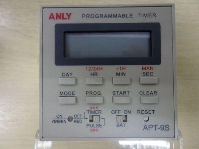 ANLY APT-9S AC/DC100-240V/50/60HZ (CONTACT:240V) PROGRAMMABLE DIGITAL TIMER