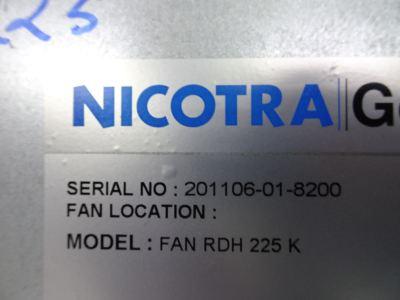 NICOTRA FAN RDH 225K BLOWER C/W CASING + SHAFT (CODE:M-632043-00)