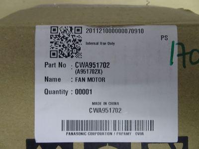 PANASONIC A951702 YYW25-6-7041 6P 25W (220-240V/1PH/50HZ) OUTDOOR FAN MOTOR