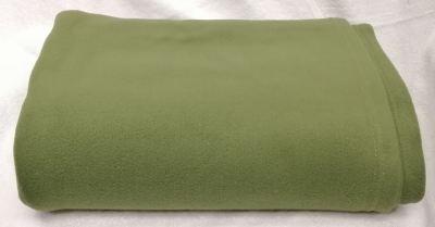 60X80 DOUBLE BRUSH BLANKET - OLIVE GREEN