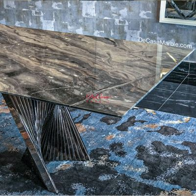 Luxury Italy Marble Dining Table   Arabescato Orobico   8-10 Seaters