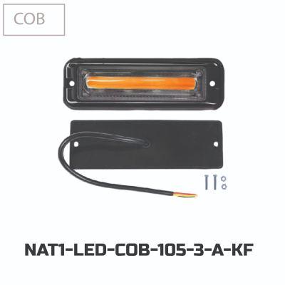 LED FLASHING COB 105-3(12V-24V)-AMBER