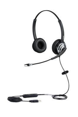 MAIRDI MRD-805DUC: MAIRDI DOUBLE EAR (MONAURAL) SLEEVING GOOSENECK MICROPHONE BOOM WITH LYNC USB COR