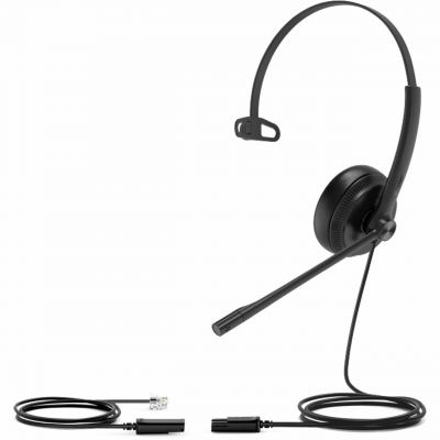 YEALINK YHS34: MONO WIDEBAND HEADSET [Leather Cushion] FOR YEALINK IP PHONE