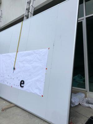 E G box Up 3D lettering - Fairmont distribution centre