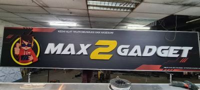 Max 2 Gadget - Aluminium 3d Box Up Led Frontlit