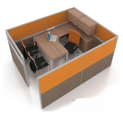 OPEN CONCEPT 1 WORKSTATION 1 WITH SIDE CABINET & HANGING CABINET