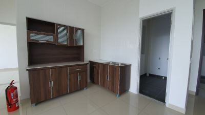 kitchen including aluminium  basin