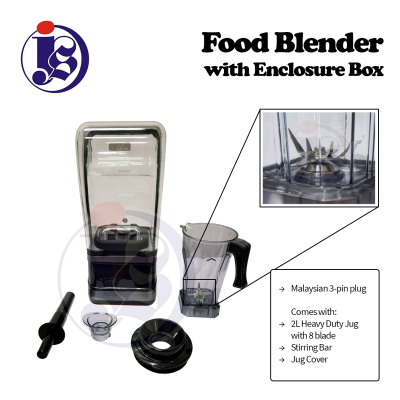 Food Blender With Enclosure Box (Manual Model / Digital Model)