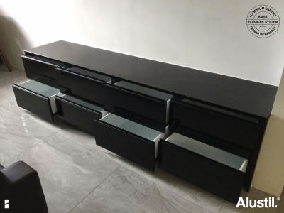 Custom Made Aluminium TV Cabinet