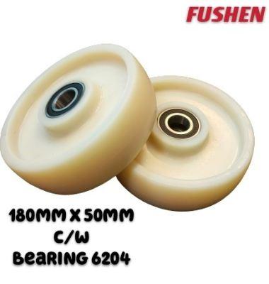 180mm x 50mm Nylon Wheel c/w bearing (For FUSHE�� Brand only)