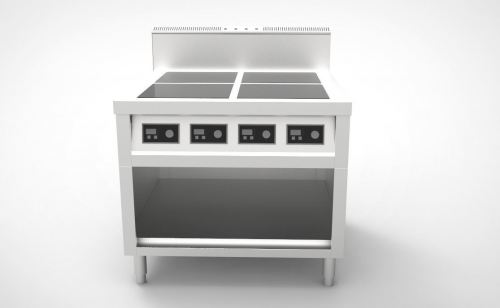 4 Hob Induction Cooker Counter