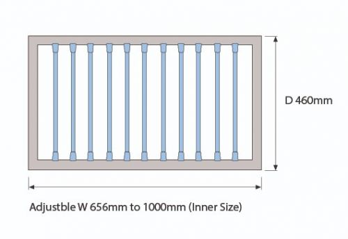 Trouser Rack Diagram