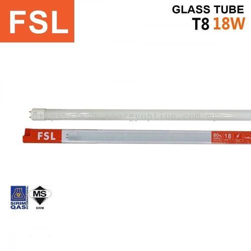 FSL T8 18W Glass Tube Only (Sirim)